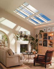 A skylight can significantly brighten a room without any energy cost.