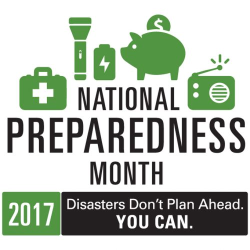 The official logo for National Preparedness Month 2017. [High Resolution JPG]